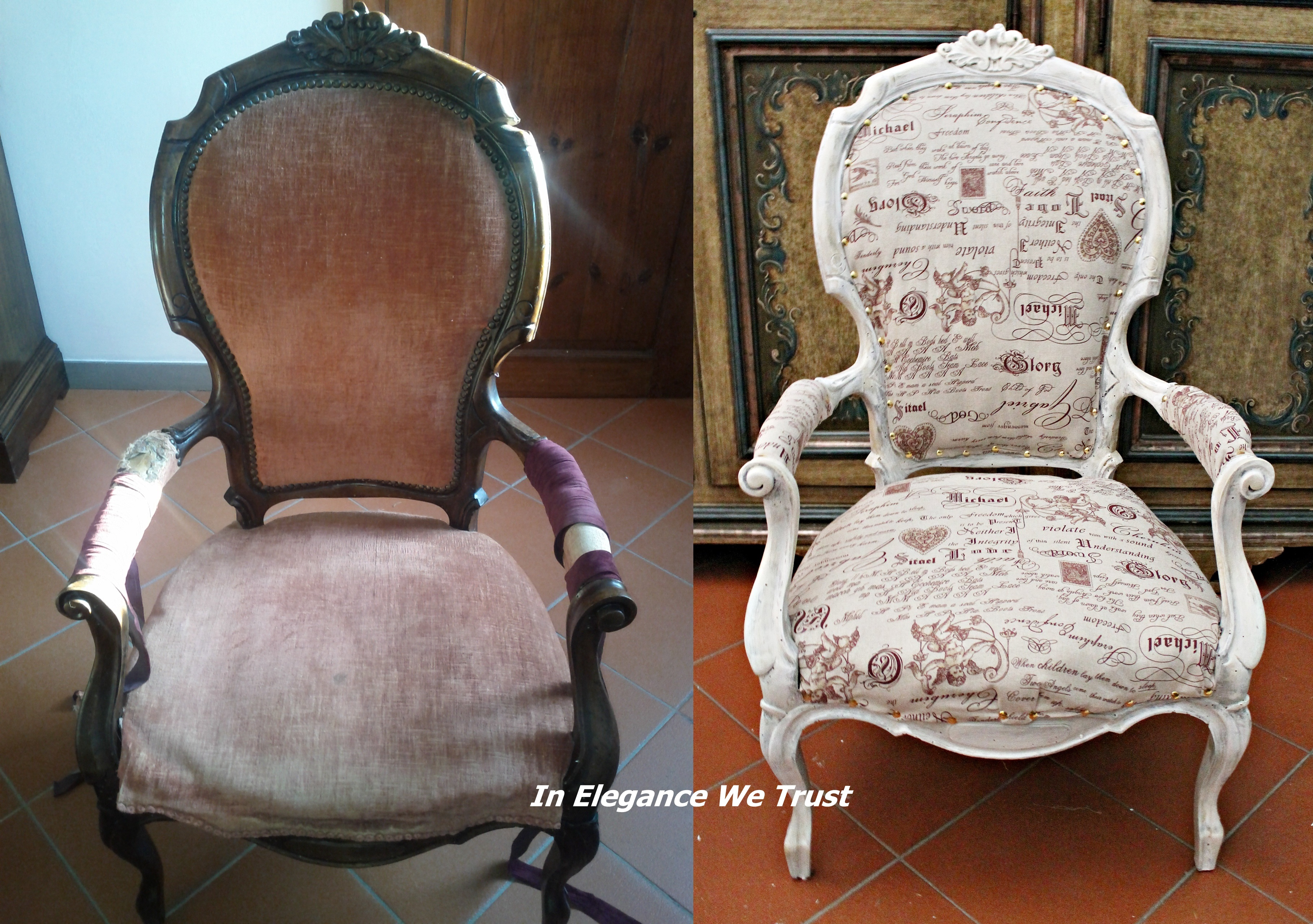 Recupero e shabby chic poltrona in elegance we trust for Poltrone shabby